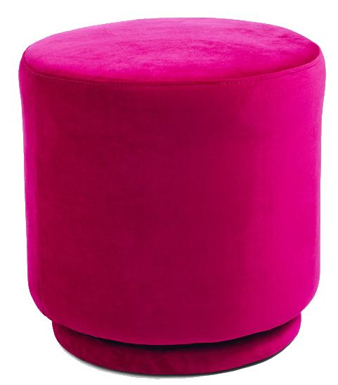fuschia velvet stool