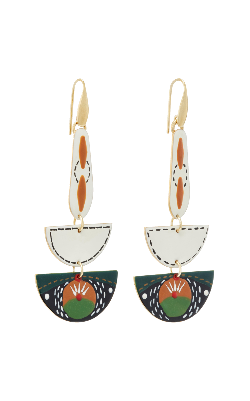 isabel marant brass + resin earrings