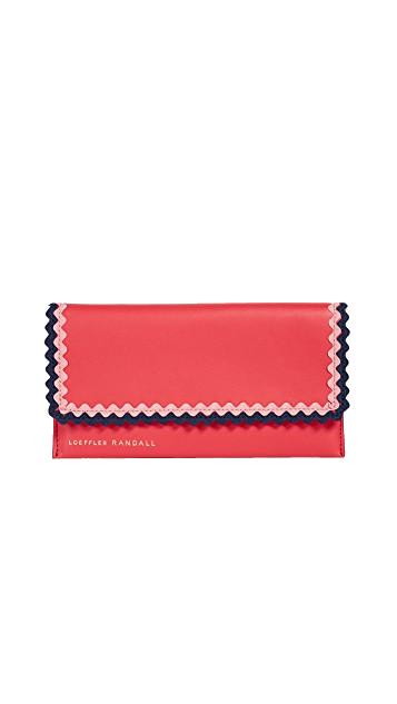 loeffler randall red rickrack wallet