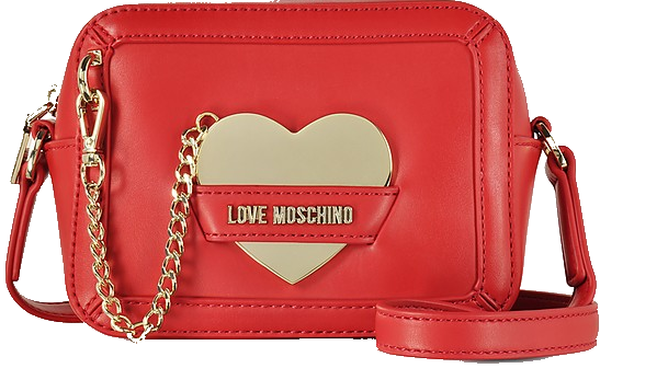 red love moschino crossbody bag