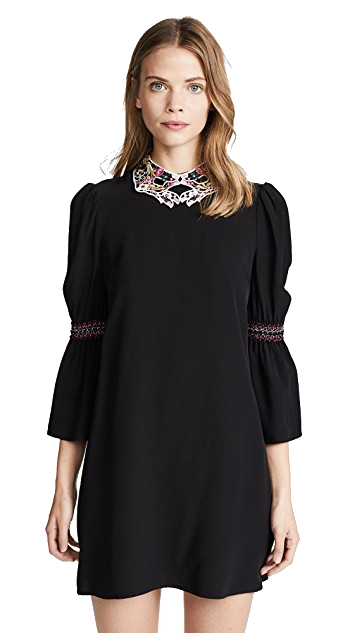 collared black + white vivetta dress