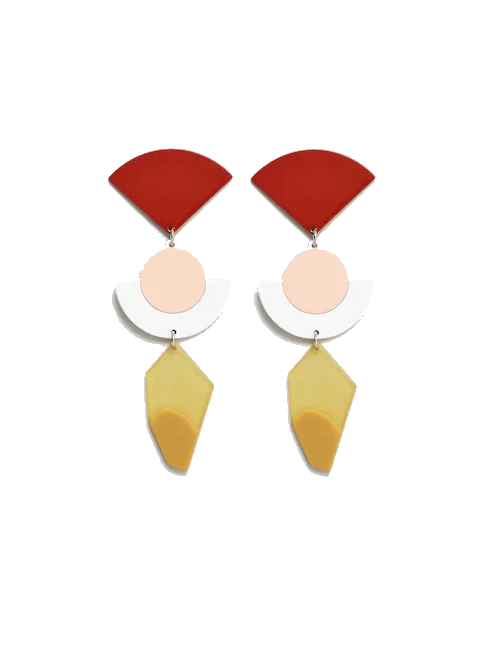 mango geo earrings