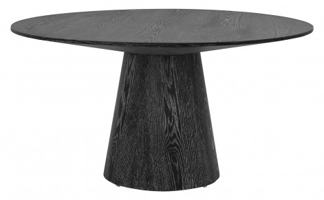 black wooden dining table