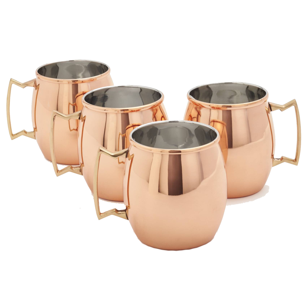 set of 4 moscow mule cups