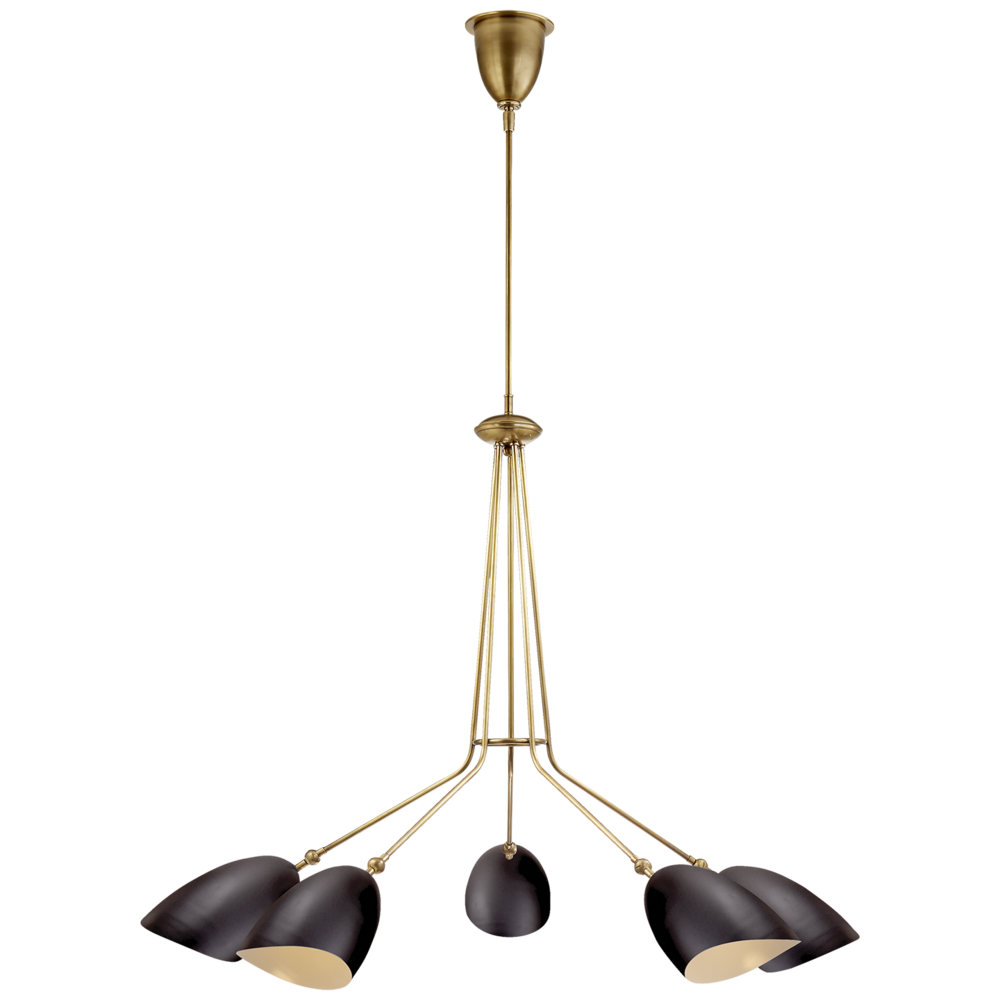 aerin black + brass chandelier
