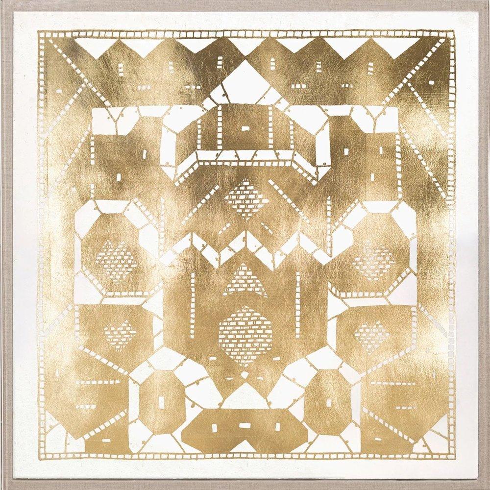 gilded lace framed art
