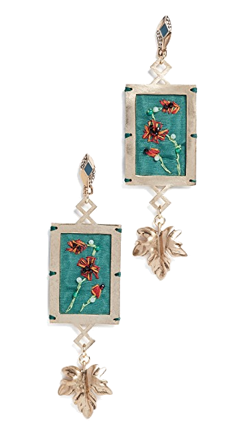 lulu frost green earrings