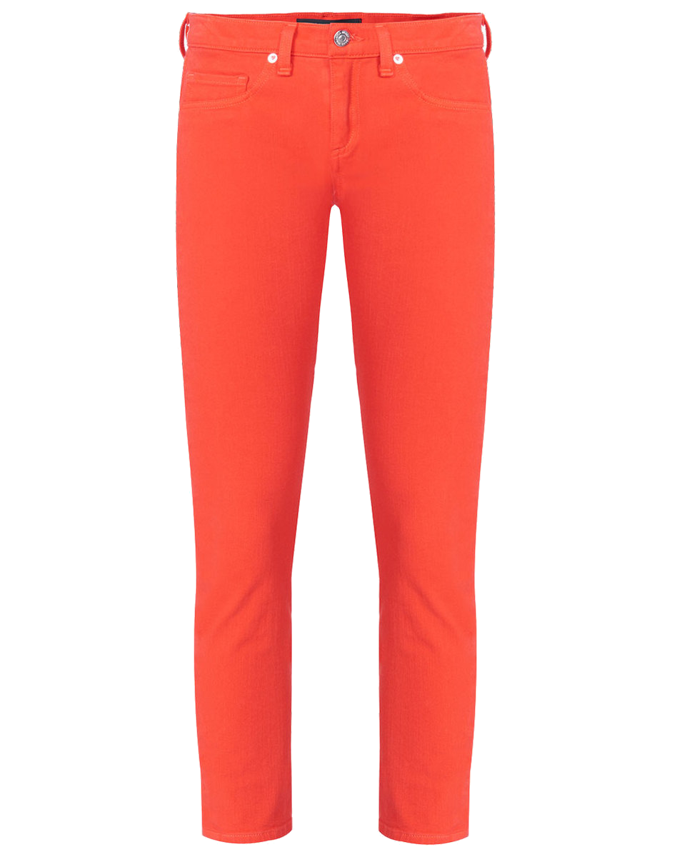 veronica beard red crop jeans