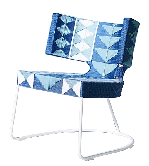 blue graphic indoor/outdoor chair