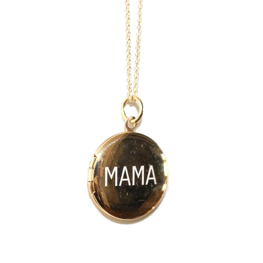 lemel gold mama locket