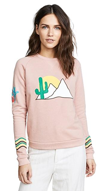 antik batik desert pink sweatshirt