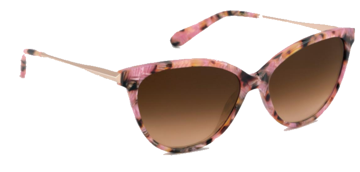 krewe pink cat eye sunnies