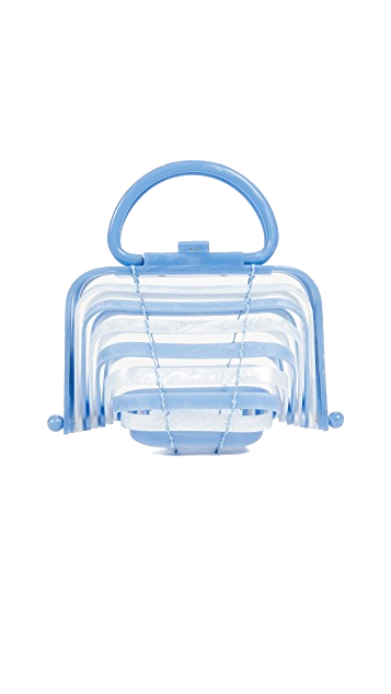 blue acrylic cult gaia bag