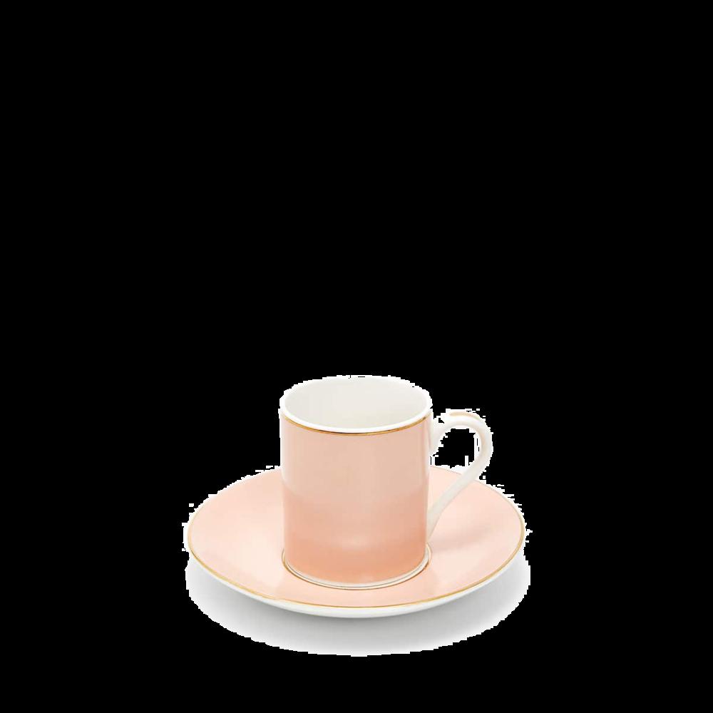 zara home gold rim pink cup + saucer