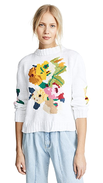 smythe floral cotton sweater