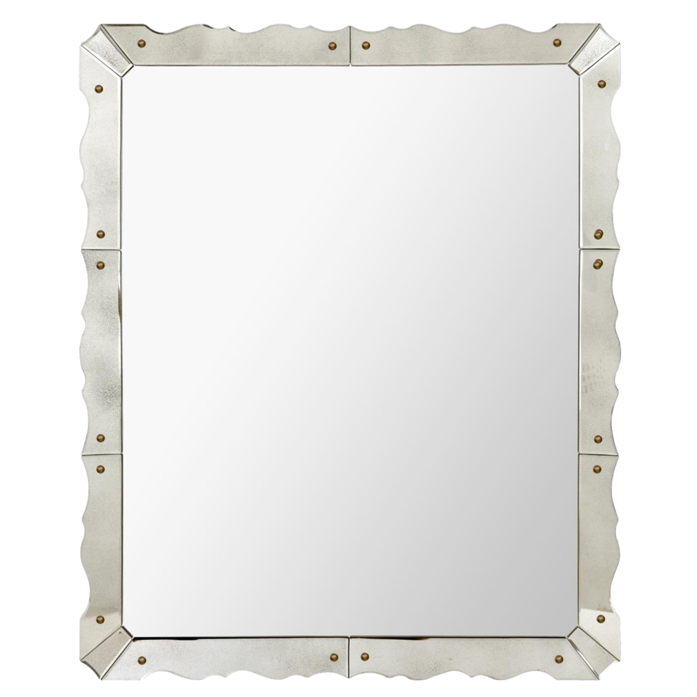 parisian style art deco wall mirror