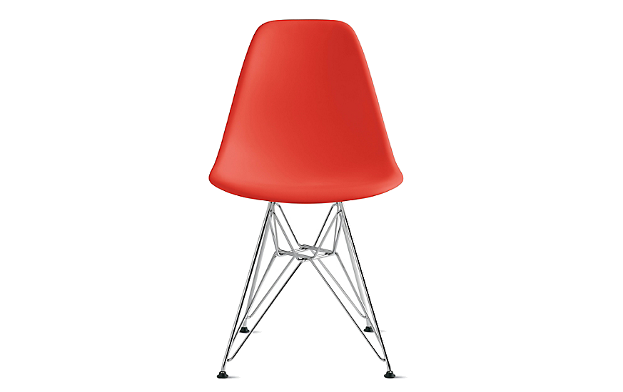 red eames eiffel side chair