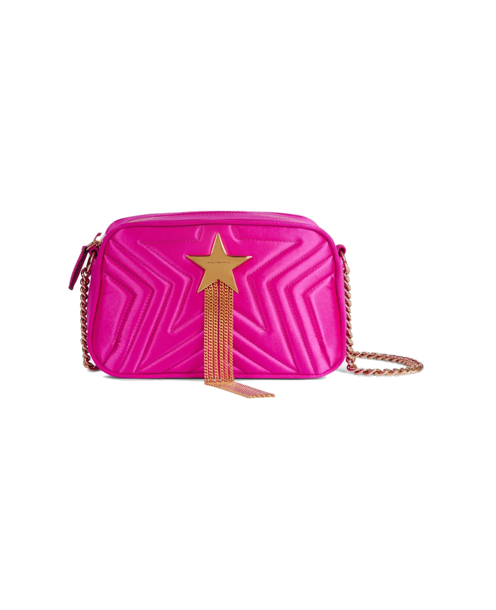 stella mccartney pink + star quilted bag