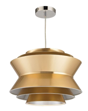 gold disc pendant light