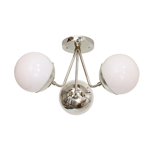 polished nickel ceiling light
