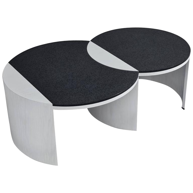 black + white coffee table