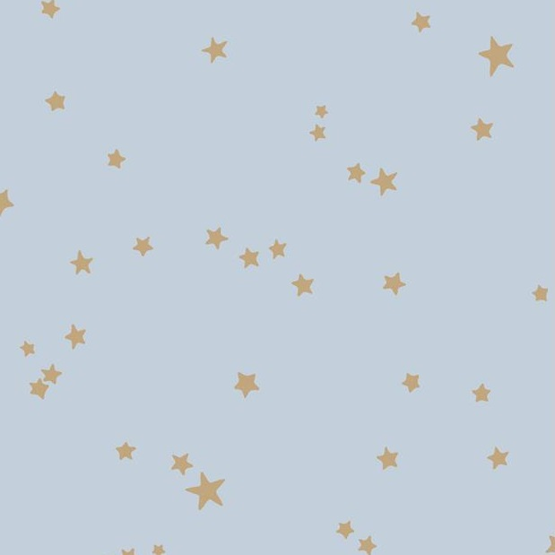 blue + gold star wallpaper