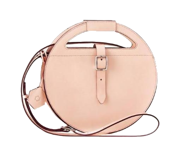 ODP blush leather circle bag