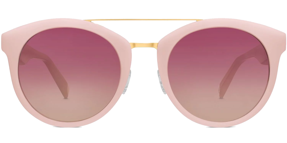 warby parker blush sunglasses