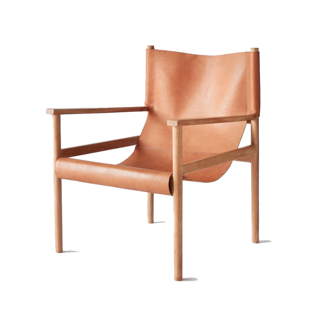 tan leather safari chair