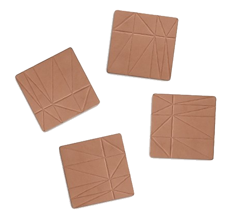 heath ceramics leather coasters