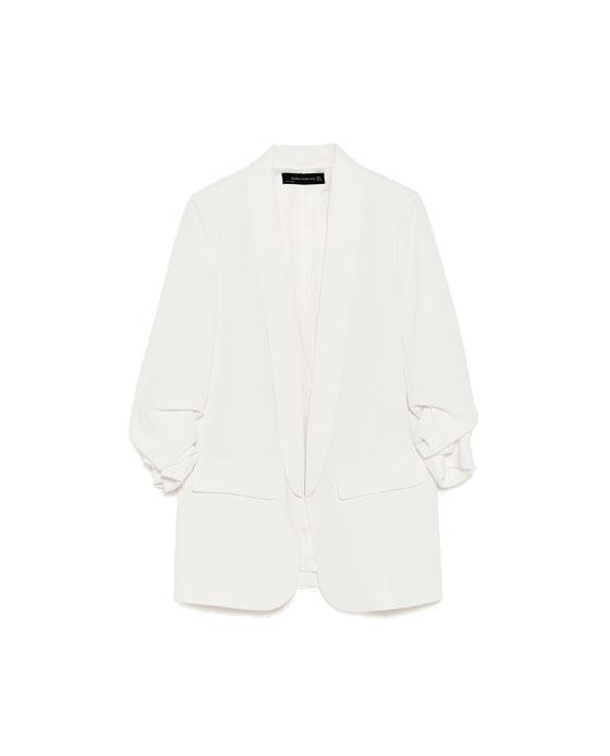 white crepe blazer