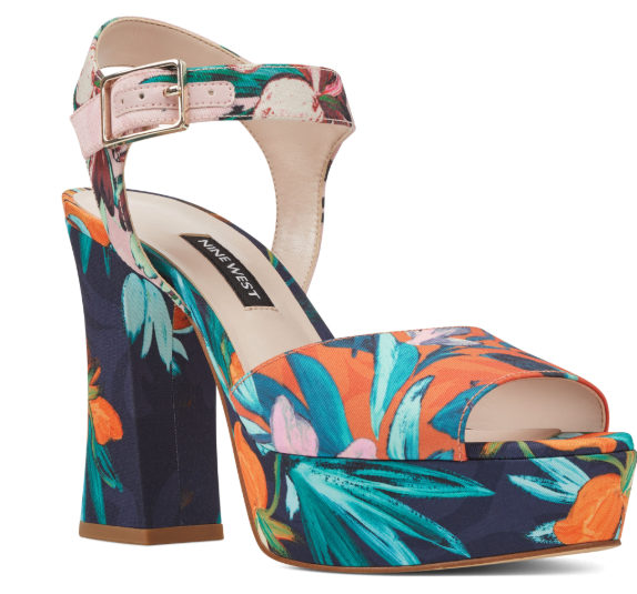 tropical platform heels