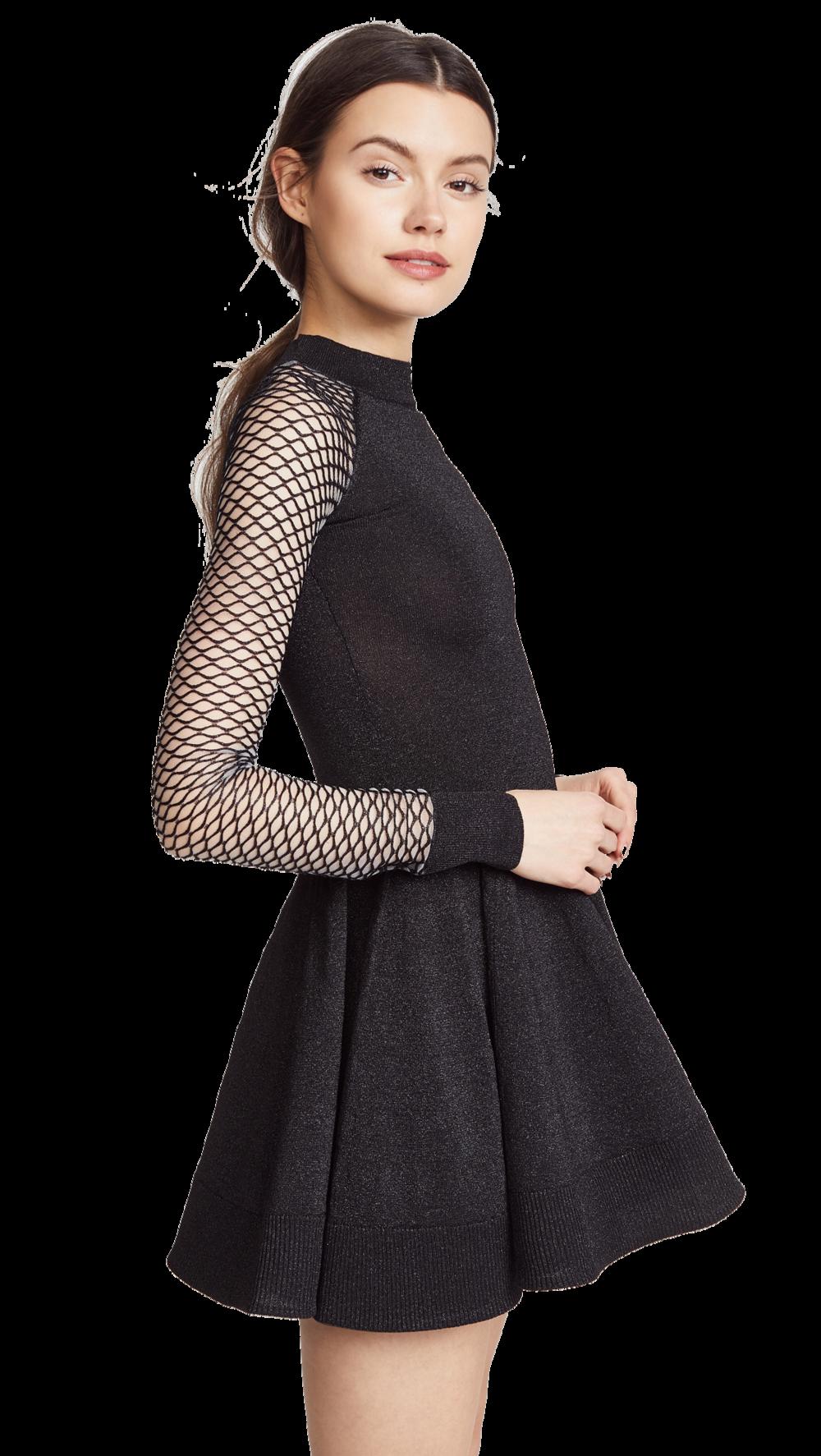 black circle dress