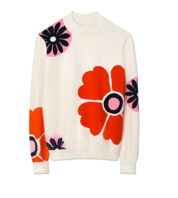 mod floral sweater