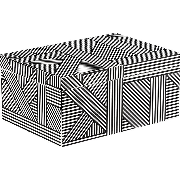 black + white jewelry box