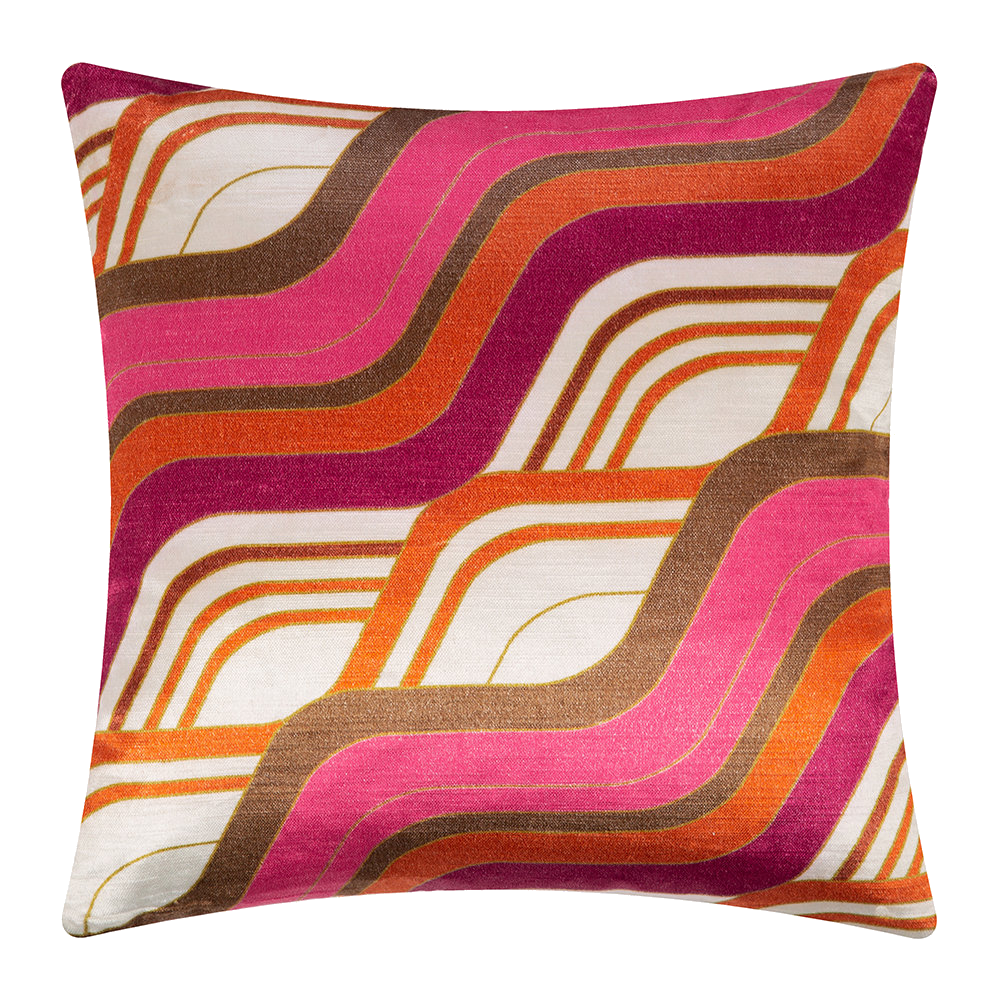 pink + orange mod throw pillow
