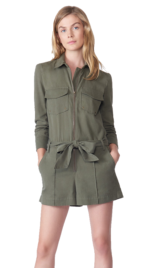 veronica beard green romper