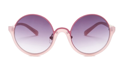 blush + lilac round sunglasses