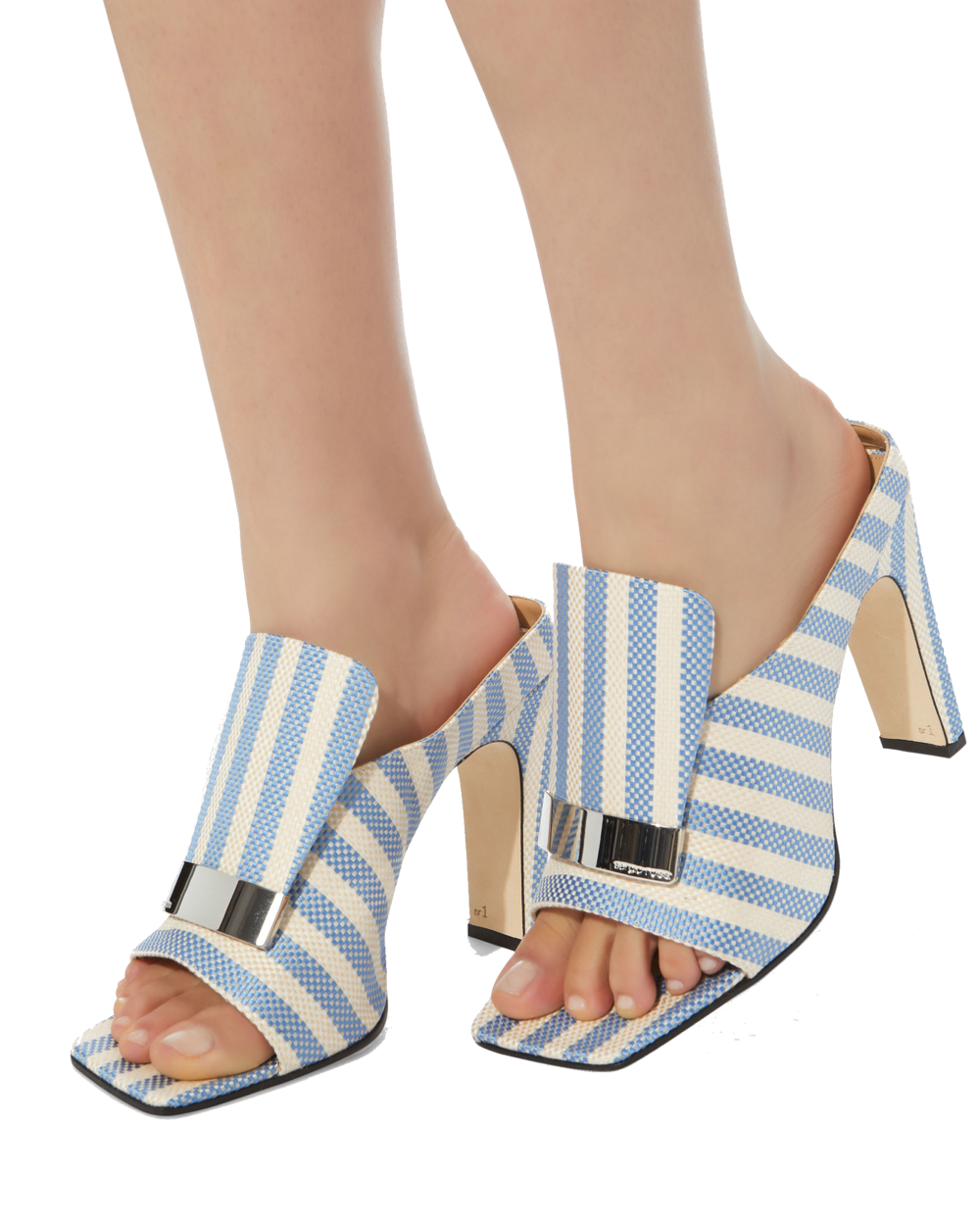 sergio rossi striped mules