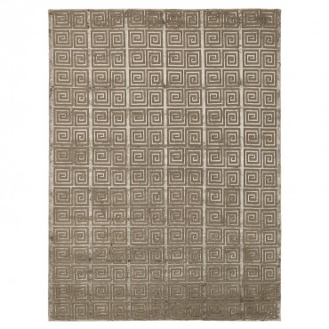 greek key patterned hand woven rug