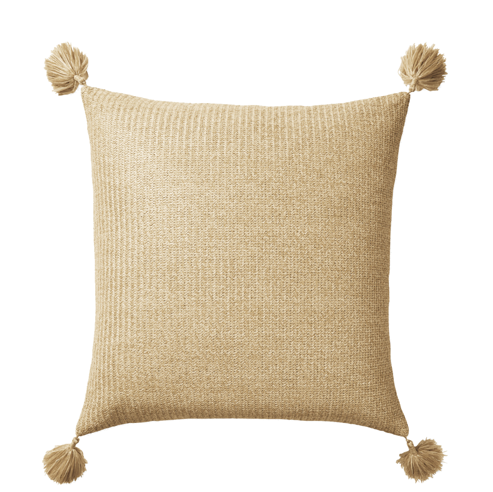 tassel outdoor throw pillow