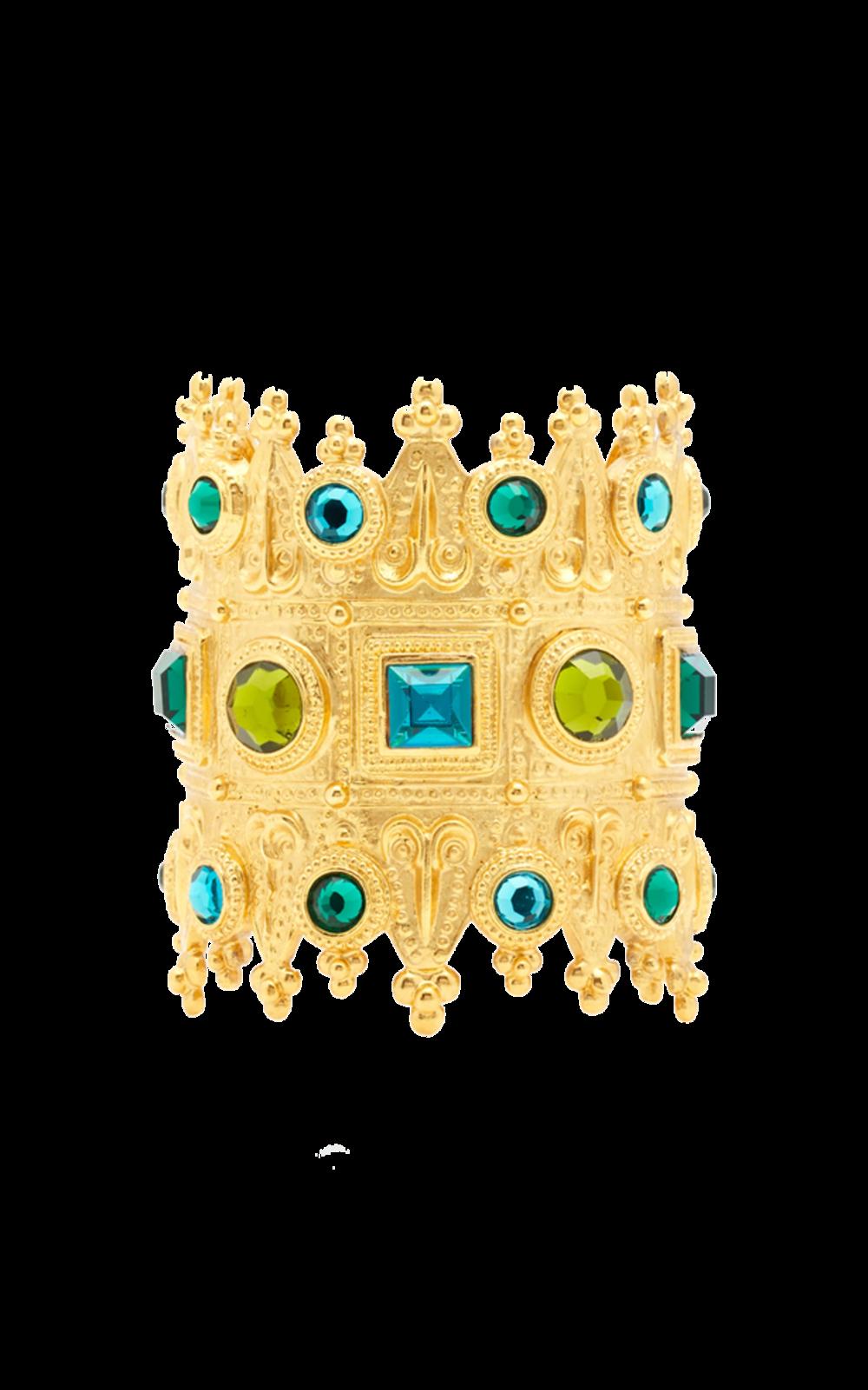 gold + crystal cuff bracelet