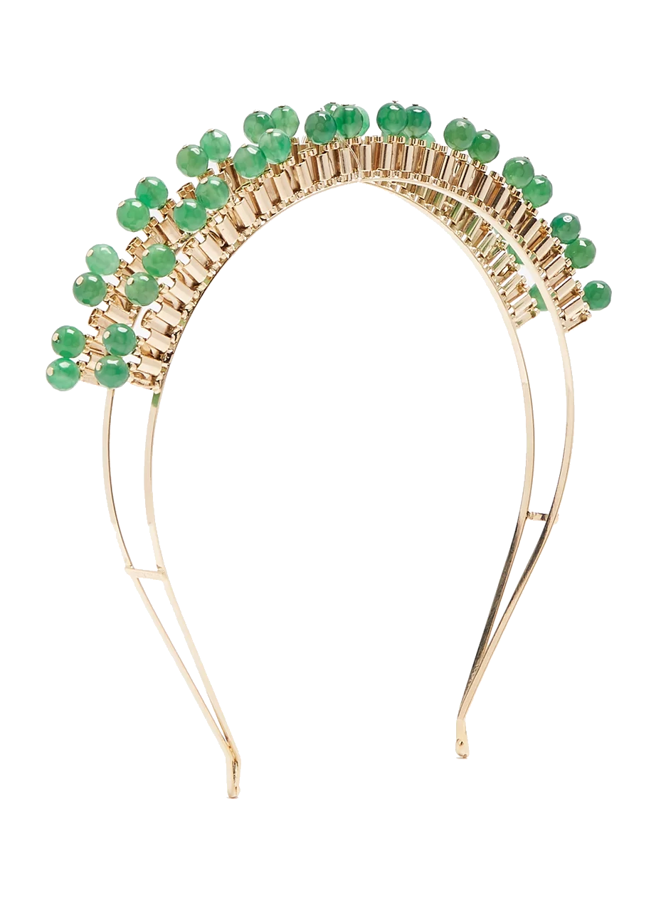 green quartz headband