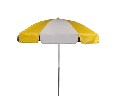 yellow + white stripe umbrella