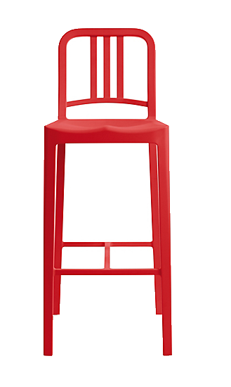 dwr red barstool