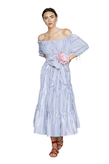 m.d.s. stripes peasant dress