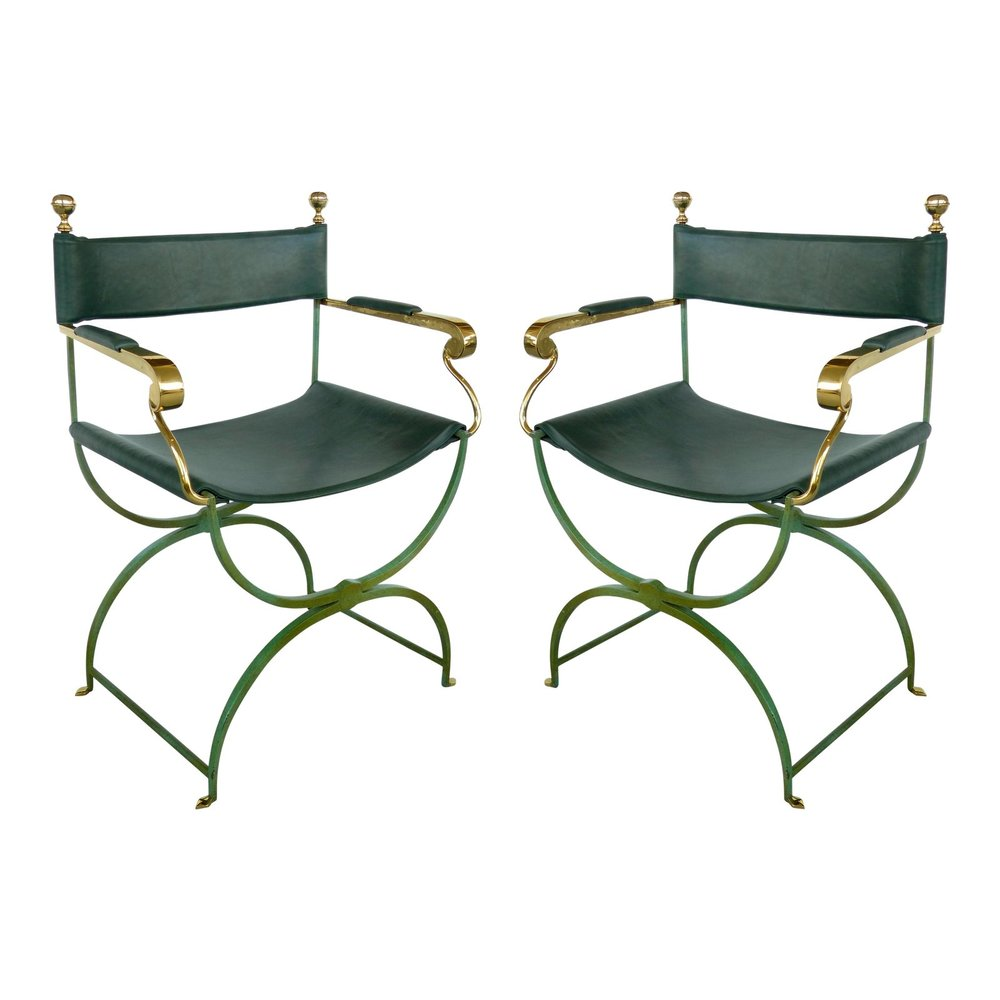 pair vintage directors chairs