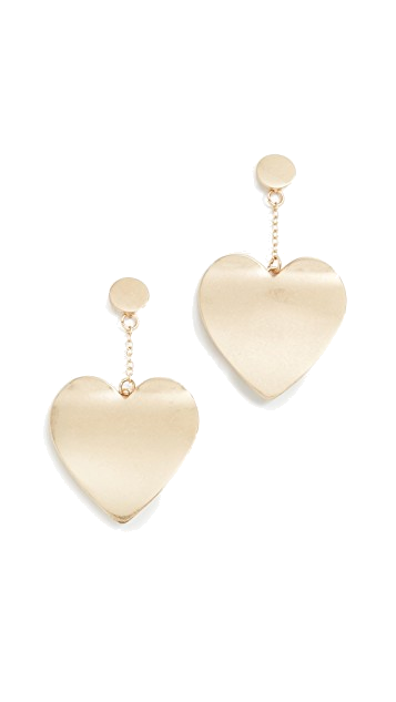 heart drop earrings