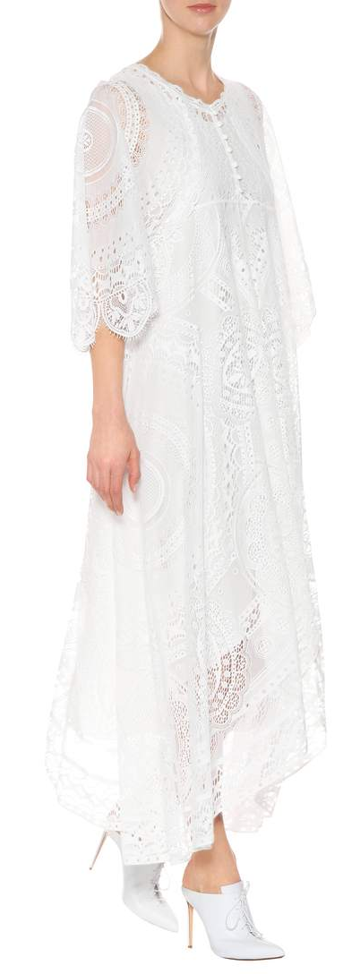 chloe white lace maxi gown