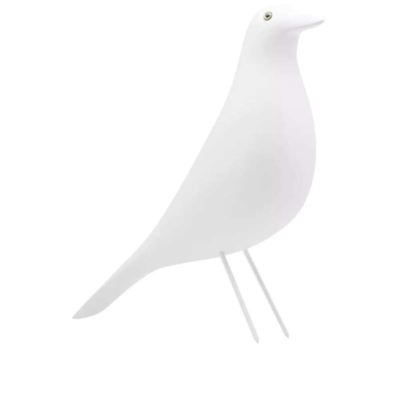 eames white decorative bird